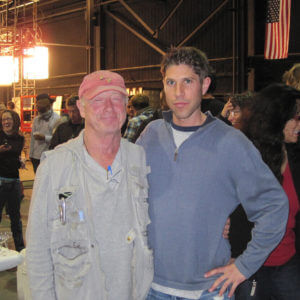 Brian working with Director Tony Scott