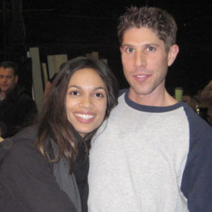 Brian working with Actress Rosario Dawson