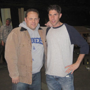 Brian working with Actor Kevin Chapman